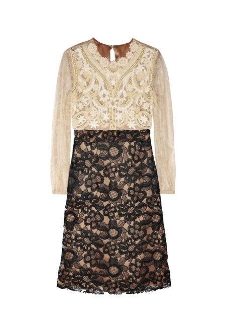 VALENTINO Embellished lace dress £819   #VALENTINO #DRESS #LACE #SILK