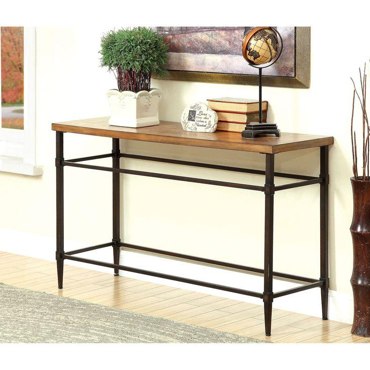 Furniture of America Suri Transitional Light Oak Sofa Table - IDF-4221S