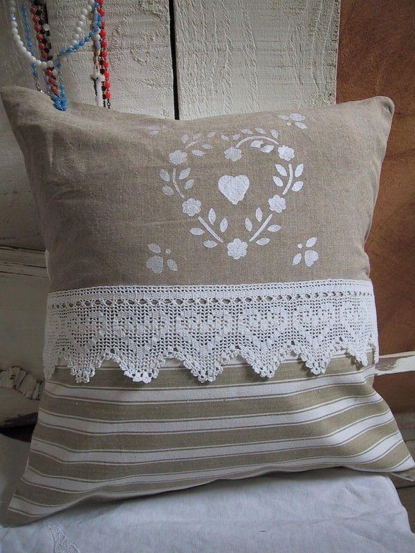 .With crochet heart. Nice