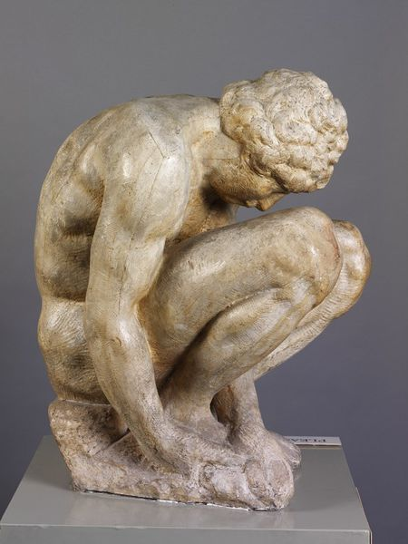 Crouching Boy by Michelangelo