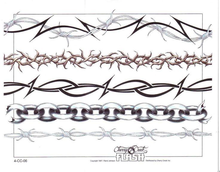 anklet bracelet tattoo barbwire