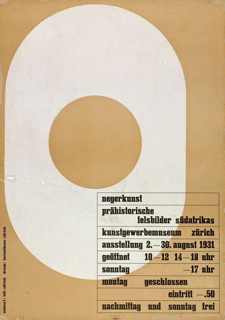 max-bill-affiche-Negerkunst-1931