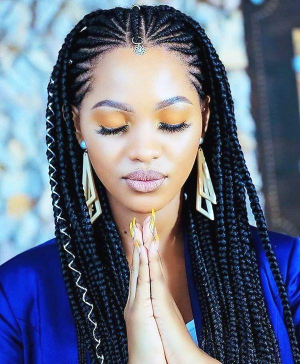50 Incredible Natural Hairstyles For Black Women Cornrow Braid