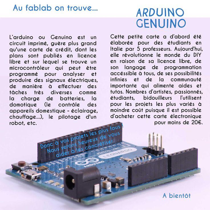 Aujourd'hui, nous nous arrêtons un instant sur l'Arduino ou Genuino. Une petite carte électronique bien musclée.  En vous souhaitant un bon week-end.  #fablab #arduino #genuino #LaBricotheque #fablabpernes #CarteElectronique #microcontroleur #DIY #maker
