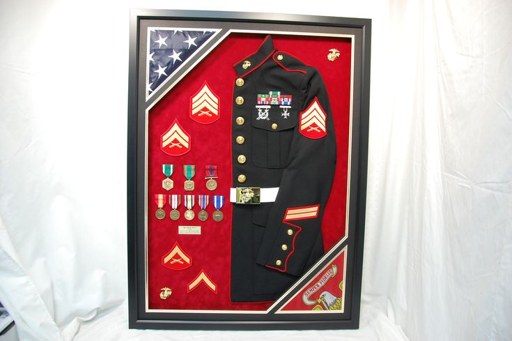 26 best marine military shadow box displays images on