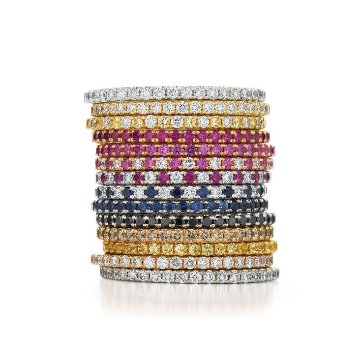 Love these stackable rings! Thin and elegant, stackable rings are the perfect way to start a collection of memories you can wear without resorting to a charm bracelet. From engagement to wedding, first baby and anniversary, you can keep adding on this thin beauties to your hearts content.