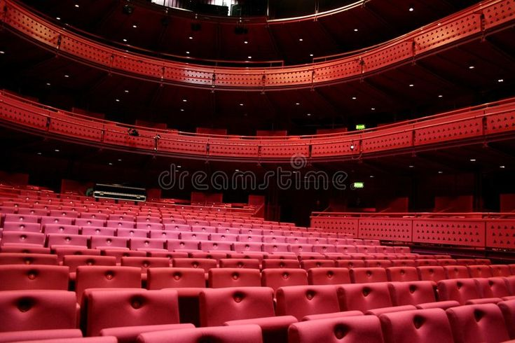 Theater Venue Red Seat In A Theater Venue Affiliate Venue Theater Red Theater Seat Ad Venues Theatre Stock Photos