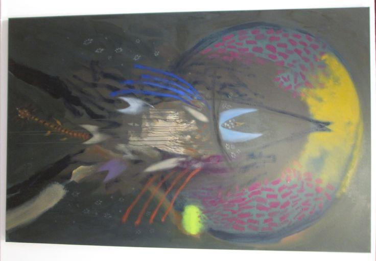Nacido del huaira shacha (árbol del viento) Óleo sobre lienzo 200 X 128,5 cms 2008 - 2013