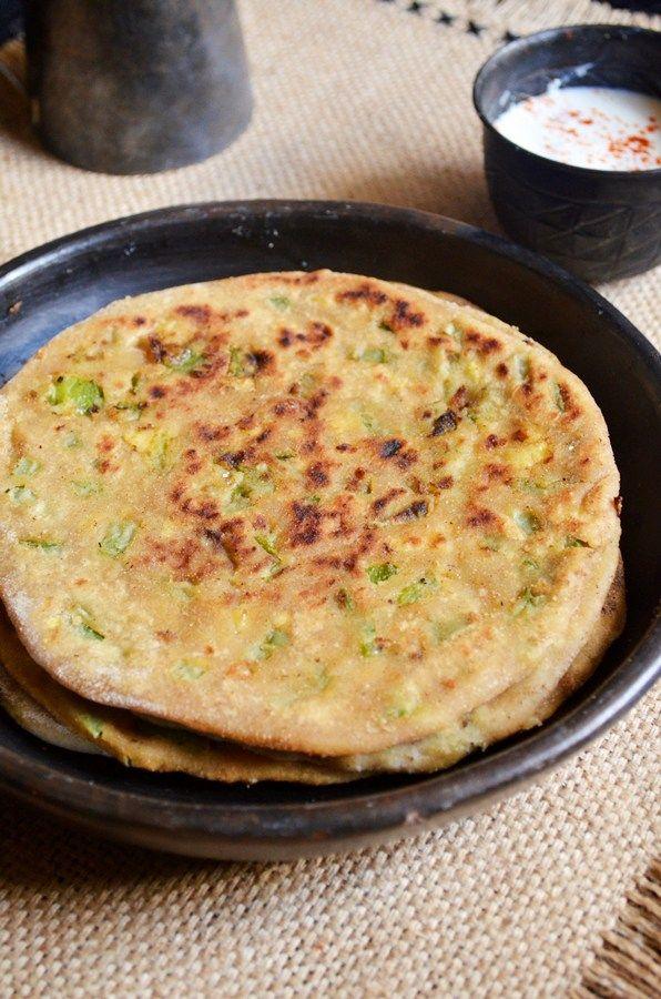 cheese capsicum paratha recipe1