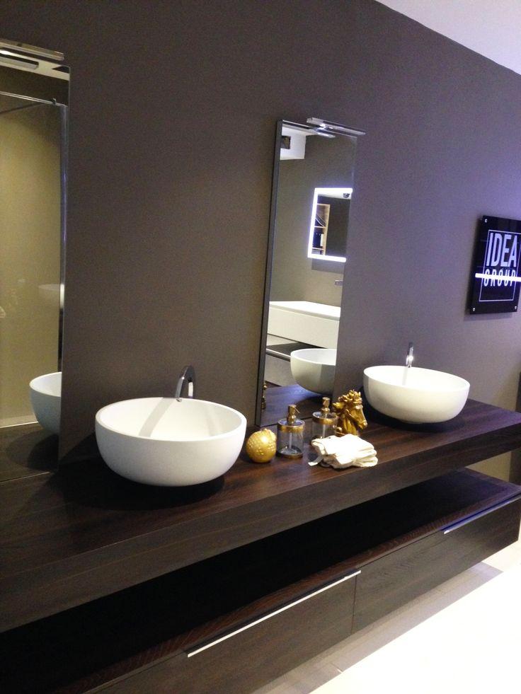 arredo bagno cubik con finitura legno # design # bathroom mobile bagno ...