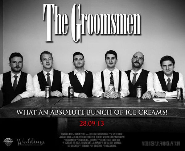 If you're looking for a super cool unique groomsmen gift, a custom poster is a great gift to bring your guys together and position a really creative gift to rem