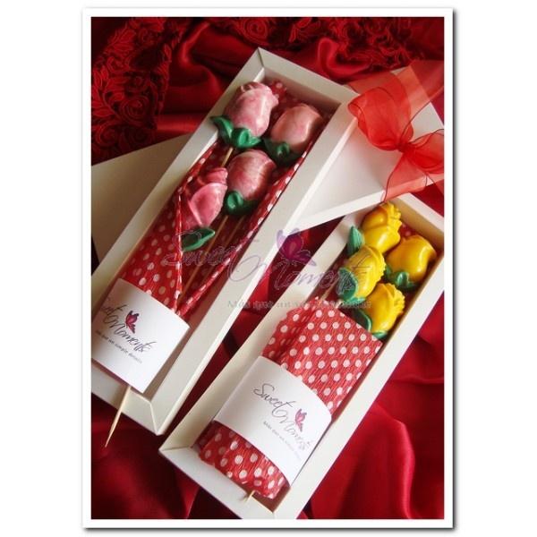 Rosas de chocolate para mamá.