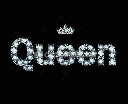 Diamante la palabra Reina — Ilustración de stock #68846057