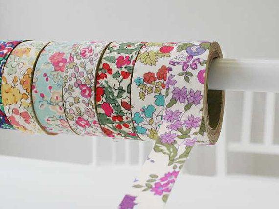 liberty fabrics cotton tape, so pretty!!