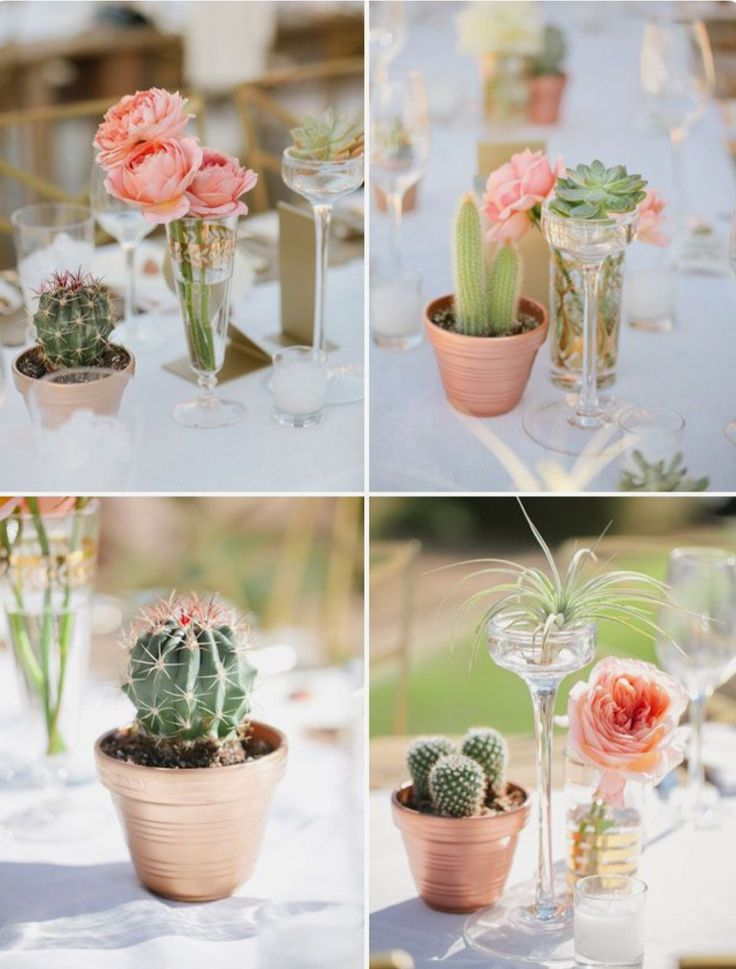 Rosa austin para centros de mesa color coral total 36 for Arreglos de mesa para boda en jardin