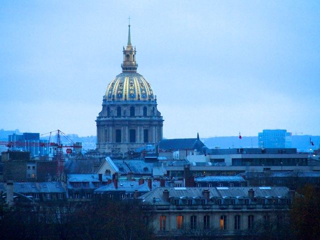 Paris, View From The Top - Vicki Archer  The golden dome of Les Invalides dominates the skyline with La Grande Roue… I wonder what Napoleon Bonaparte would think about sharing top billing with a joy ride…