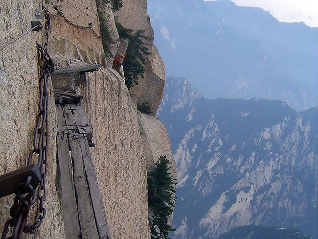 Chinese Via Ferrata in Chang Kong - The Oldest Cliff Walk in China | Adrex.com