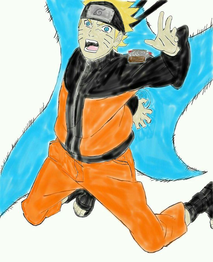 Naruto Rasensuriken by me (colored)