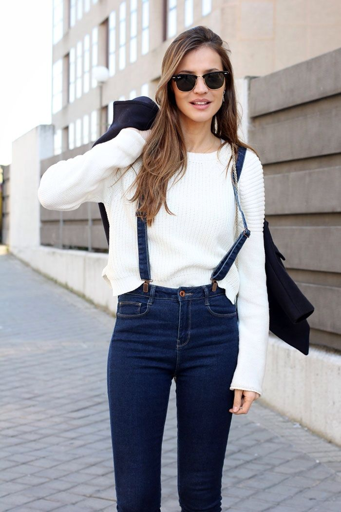 Minimal + Classic: denim with suspenders