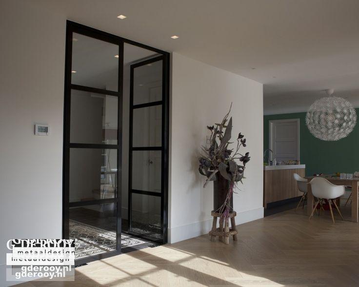 Stalen taatsdeuren met glas in Zwaag   G. de Rooy Stalen binnendeuren