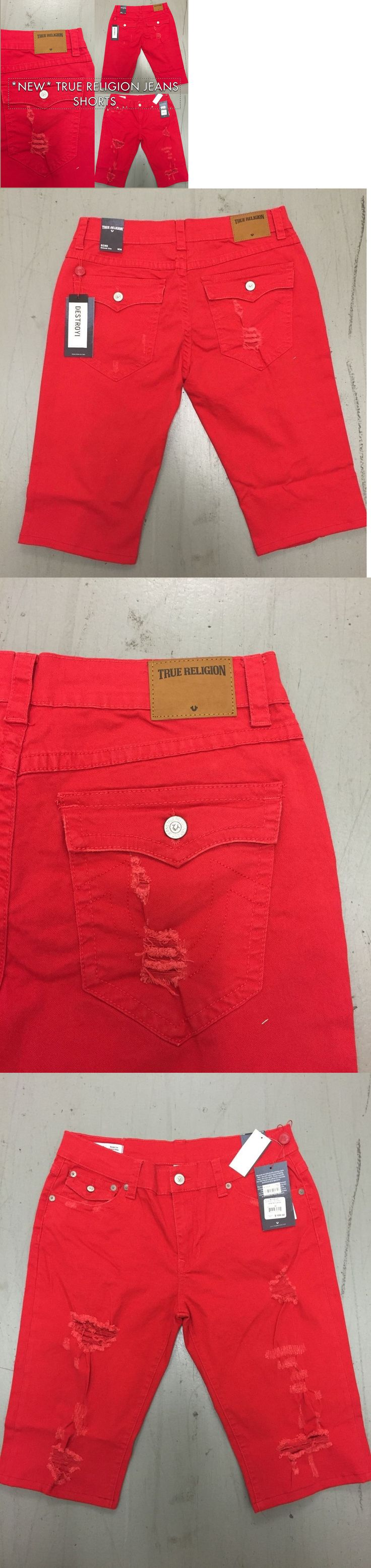 Shorts 15689: True Religion Jeans Geno Slim Fit Men S Jeans Shorts Usa Seller -> BUY IT NOW ONLY: $49.91 on eBay!