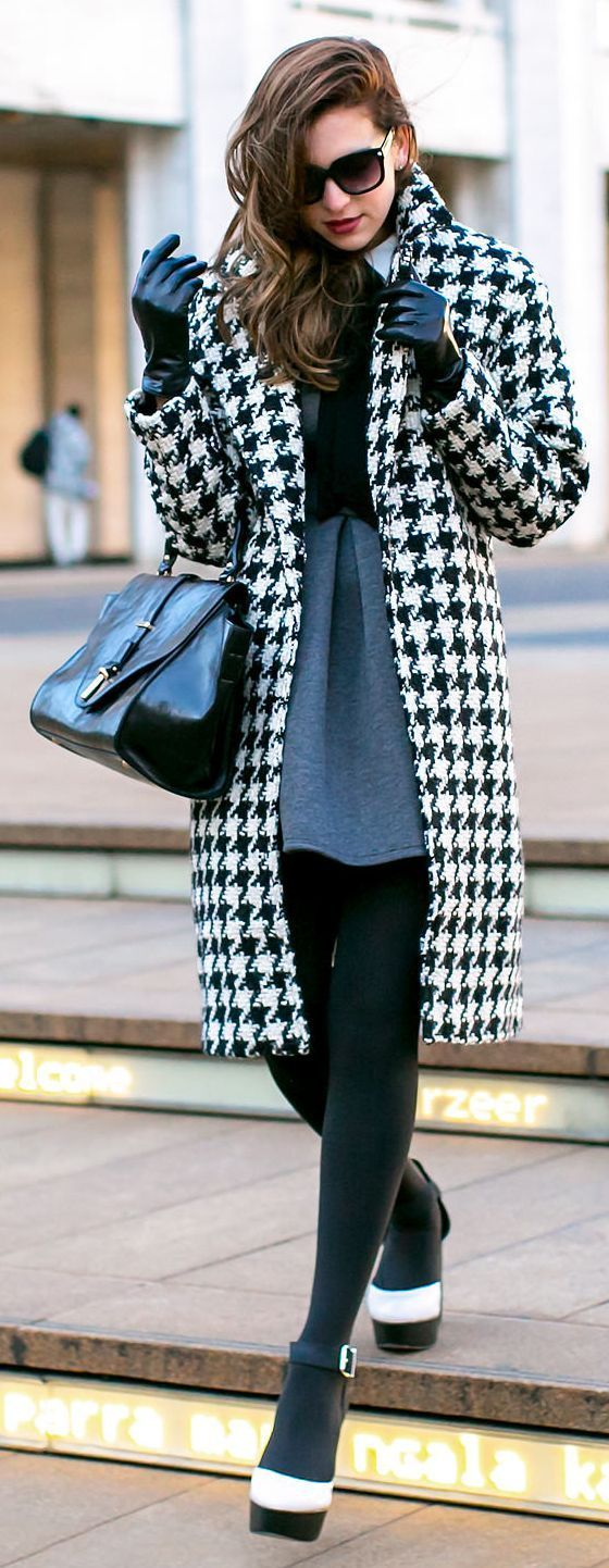 Black And White Houndstooth Coat #FashionandPassion #style #Fashion #women #Dresses (scheduled via http://www.tailwindapp.com?utm_source=pinterest&utm_medium=twpin&utm_content=post1127107&utm_campaign=scheduler_attribution)