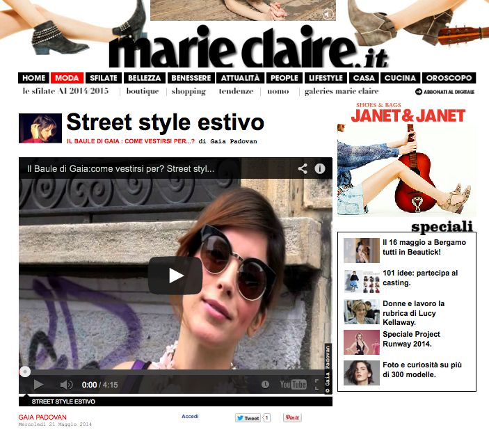 MARIE CLAIRE MAY 2014 #marieclaire #gaiapadovan #moda #occhiali #fashion #eyewear #eyeglasses #eyeframes #eyeshadows #vintage #cool #design #spectacle #JPLUS #madeinitaly