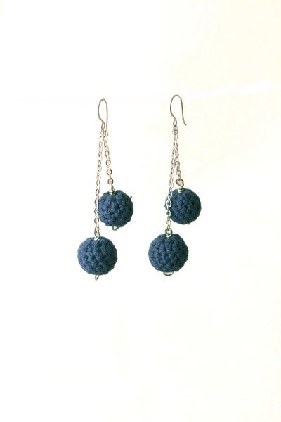 Crochet Earrings - Teal   Indigo Heart - Fair Trade Fashion A$18