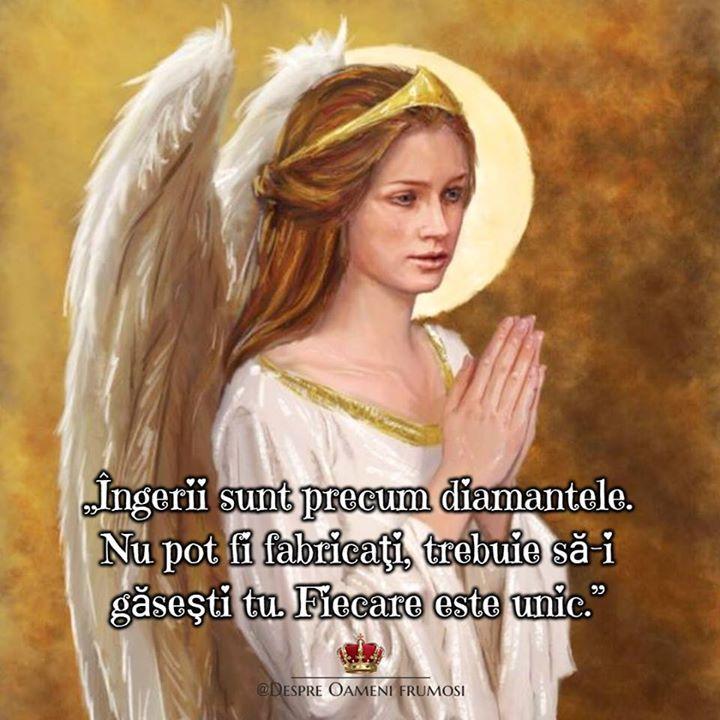 Îngerii sunt precum diamantele. Nu pot fi fabricaţi trebuie să-i găseşti tu. Fiecare este unic.  Fiecare înger e unic... la fel cum fiecare dintre noi este unic...  Ține-ți-vă îngerii aproape! _______________ The most beautiful posts / Cele mai frumoase postări   Despre Oameni frumosi  - pagina ta de frumos   http://ift.tt/2xyywKb  - arhiva cu peste 400 de postări... una mai frumoasă ca alta!