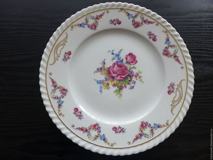 Винтажная посуда. Ярмарка Мастеров - ручная работа. Купить Старинное фарфоровое блюдо «Розы на столе», Германия. Handmade. Комбинированный