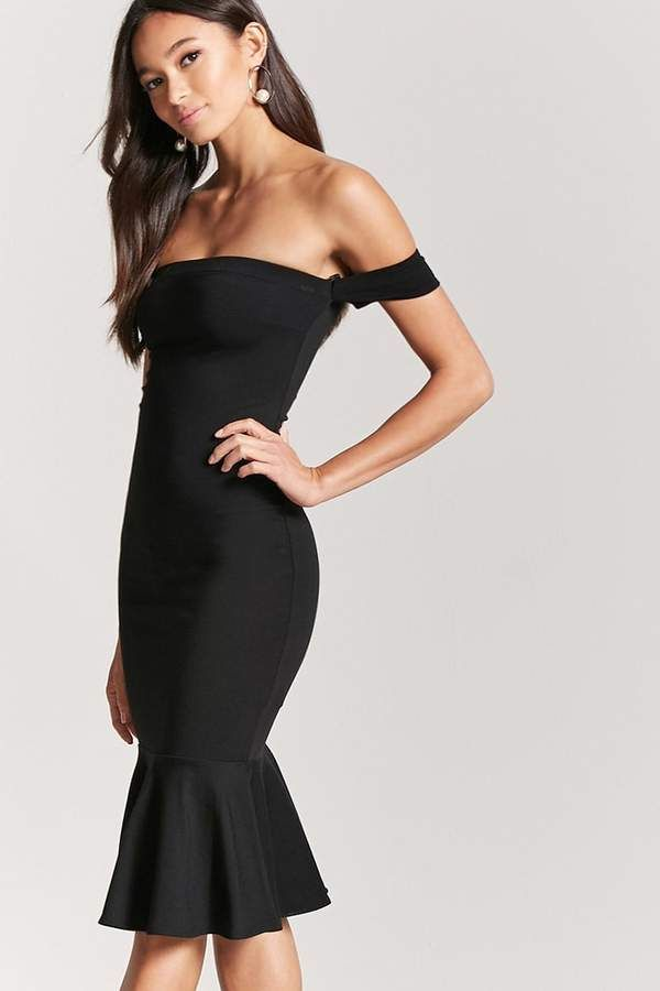a91424e90242 Forever 21 Off-the-Shoulder Mermaid Dress