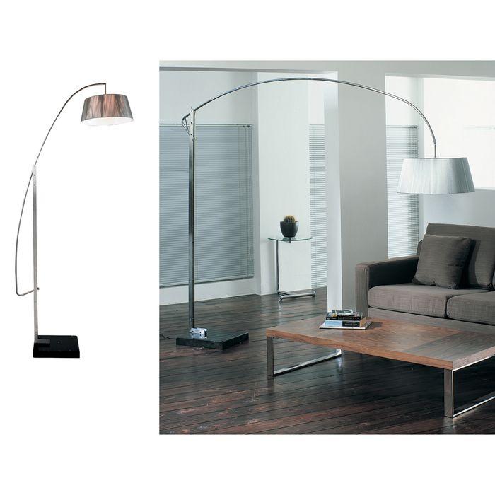 Silk cord drum floor light