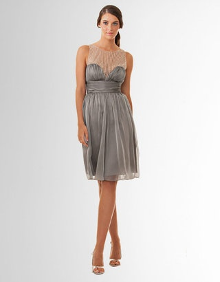 ShopStyle: JS COLLECTIONS Beaded Ruched Party Dress