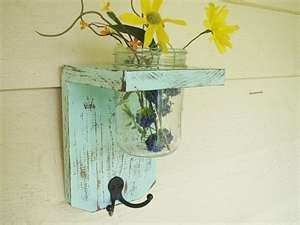 Another cool mason jar idea! My hubby is gonna make me the shelf out of barn wood!