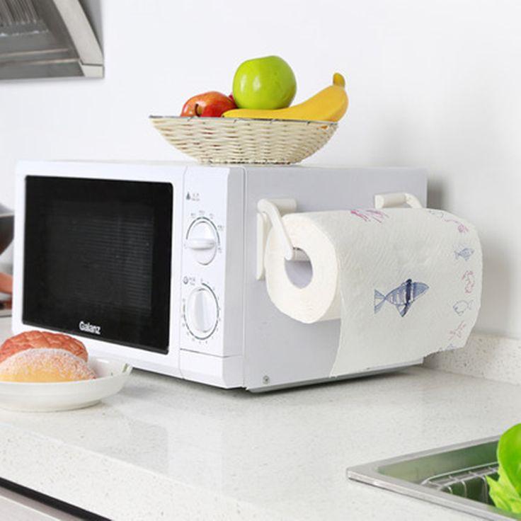 الإبداعية للتعديل ورق التواليت حامل المغناطيس حامل ورقة لفة منشفة رف منشفة بيضاء للمطبخ الحمام الملحقات