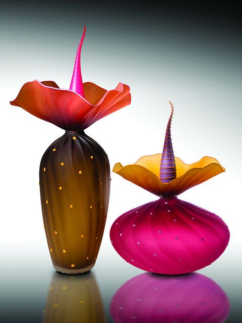 Kliszewski Glass BOBtanical Art Glass Sculpture | Bob Kliss and Laurie Kliss