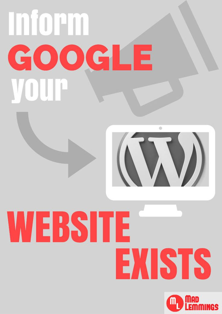 How to Inform Google your Website Exists. #marketing #entrepreneurs www.OneMorePress.com