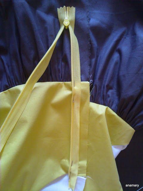 coser es fácil...: colocar una cremallera invisibleotro pequeño probl...