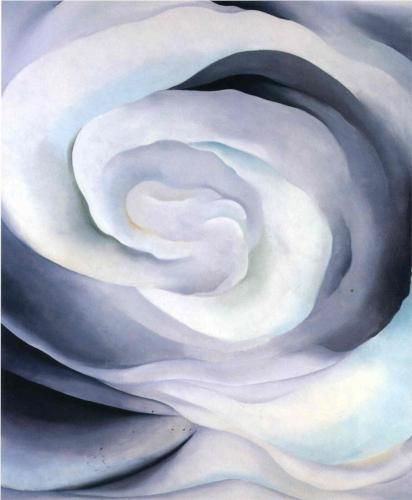 Georgia Okeefe  Abstraction White Rose