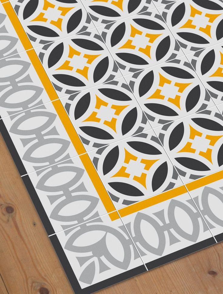 Ya está aquí la alfombra con un toque retro inspirada en los diseños modernistas de baldosa hidráulica perfecta para habitaciones infantiles y cuartos de juegos con mucha vida. Si en tu casa la habitación o el cuarto de juegos de tu peque es una mezcla