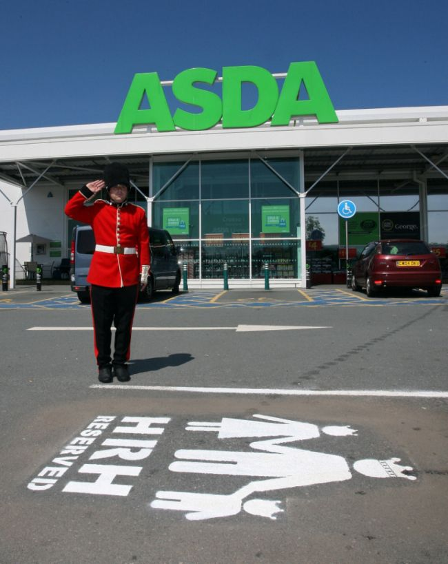 """""""HRH RESERVED"""" - ASDA getting it right! Timely, fun & relevant PR to celebrate the arrival of #royalbaby"""