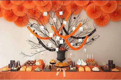 halloween candy buffet, amy atlas dessert buffet