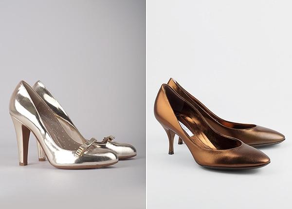 Серебряные туфли Moschino для яркой невесты #wedding #shoes