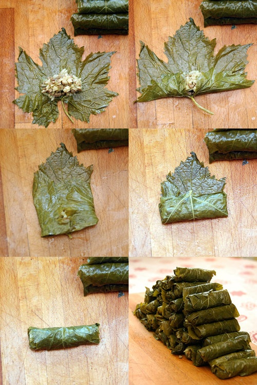 Arabskie smaki i aromaty: Jebra, يبرق czyli faszerowane liście winogron (dolma, jalunżi)