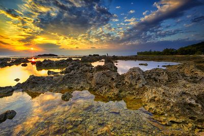 Coral Reef at Sunset