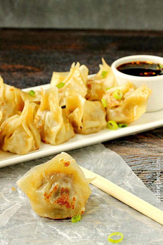 Enjoy a plate of Pork Pot Stickers for snack, while tailgating or for a dinner starter!