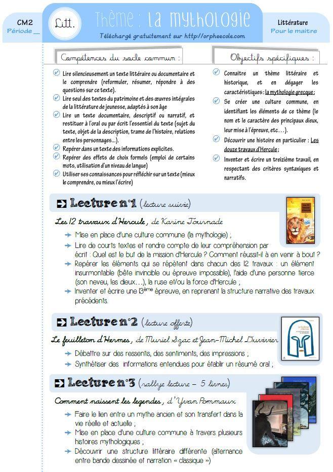 Edit du 02/08/14 : Ajout de l'exploitation des douze travaux d'Hercule, version Hélène Montardre, et de la fiche des dieux du feuilleton d'Hermès. Suivez l'icône J'adore la mythologie. Ah bon, vous l'aviez deviné ? Faut dire qu'Orphée, ça pouvait aiguiller :p Bref, j'ai fait 7 ans de latin, ma mère est prof de latin /grec, …