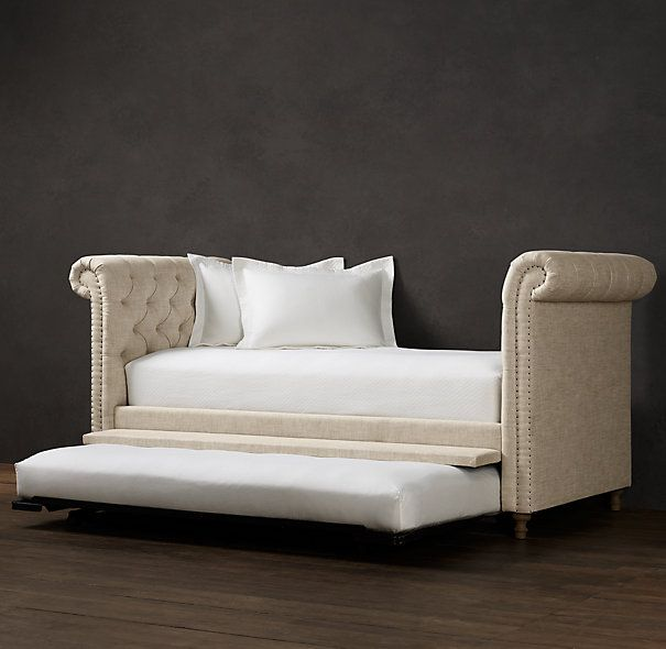 I like this one even better, same deal- trundle pulls out and pops up. There are a ton of color choices too.