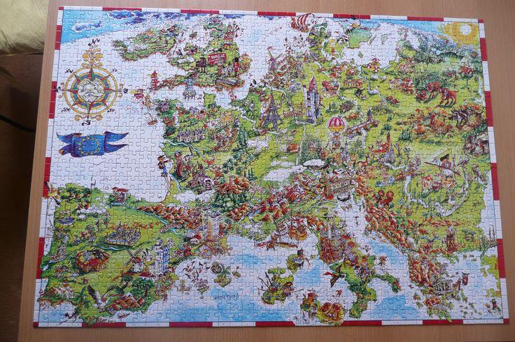 Puzzel Crazy Europe