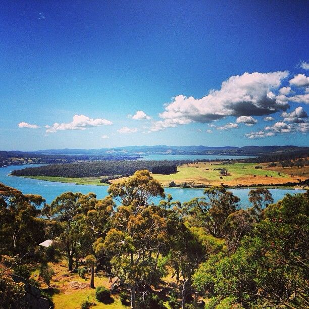 view from Brady's Lookout in the Tamar Valley #Tasmania #Australia